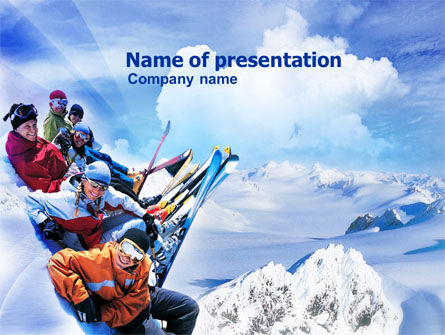 Ski Tourism PowerPoint Template, 01119, Holiday/Special Occasion — PoweredTemplate.com