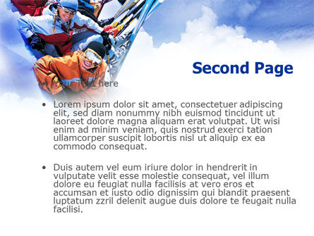 Ski Tourism PowerPoint Template, Slide 2, 01119, Holiday/Special Occasion — PoweredTemplate.com