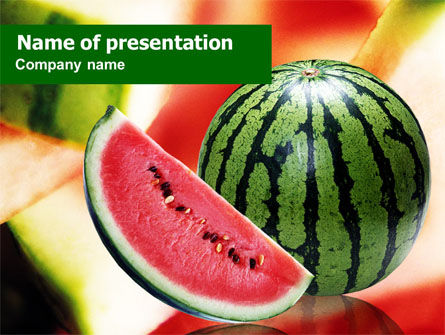 Watermelon PowerPoint Template, 01120, Food & Beverage — PoweredTemplate.com