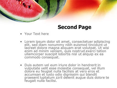 Watermelon PowerPoint Template, Slide 2, 01120, Food & Beverage — PoweredTemplate.com