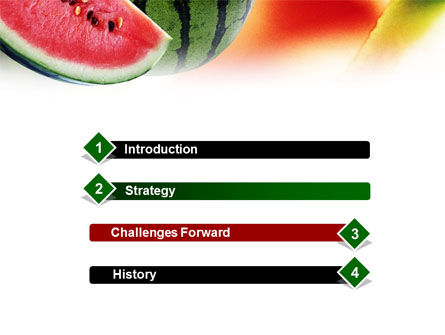 Watermelon PowerPoint Template, Slide 3, 01120, Food & Beverage — PoweredTemplate.com