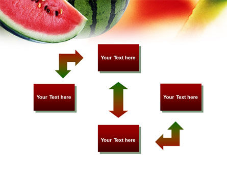 Watermelon PowerPoint Template, Slide 4, 01120, Food & Beverage — PoweredTemplate.com