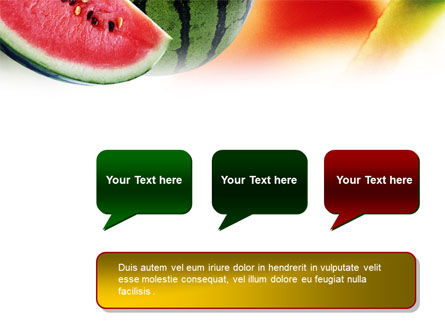 Watermelon PowerPoint Template Slide 9