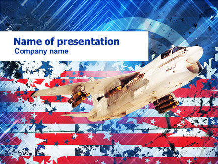 Free US Ling-Temco-Vought A-7 Corsair I PowerPoint Template
