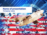 Military: US Ling-Temco-Vought A-7 Corsair I Free PowerPoint Template #01122