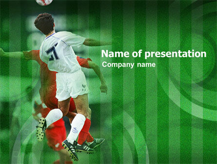 Sports: Soccer Play PowerPoint Template #01123