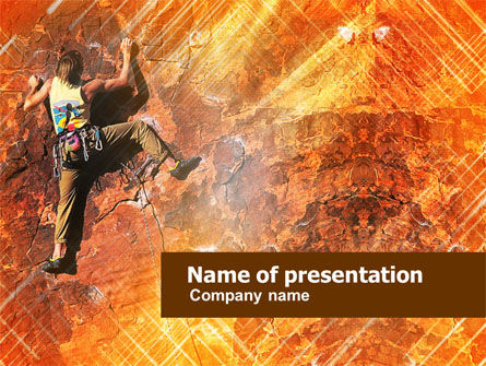 Rock Climber PowerPoint Template, 01125, Sports — PoweredTemplate.com