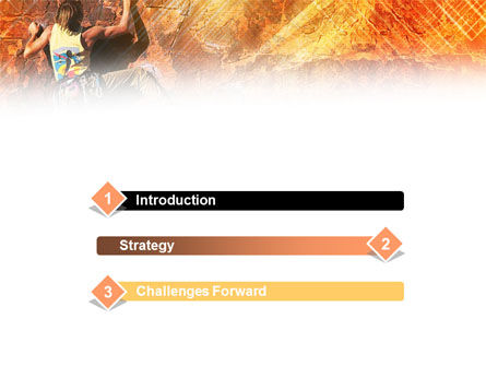 Rock Climber PowerPoint Template, Slide 3, 01125, Sports — PoweredTemplate.com