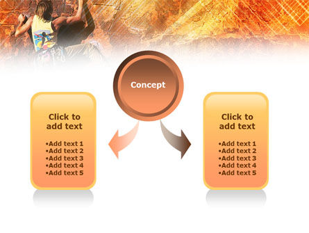 Rock Climber PowerPoint Template, Slide 4, 01125, Sports — PoweredTemplate.com