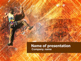Sports: Rock Climber PowerPoint Template #01125