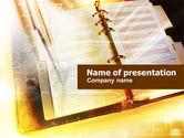 Business Concepts: ビジネスカレンダー - PowerPointテンプレート #01126