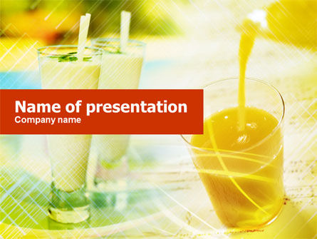 Fresh Juice PowerPoint Template, 01129, Food & Beverage — PoweredTemplate.com