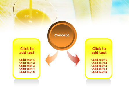 Fresh Juice PowerPoint Template, Slide 4, 01129, Food & Beverage — PoweredTemplate.com