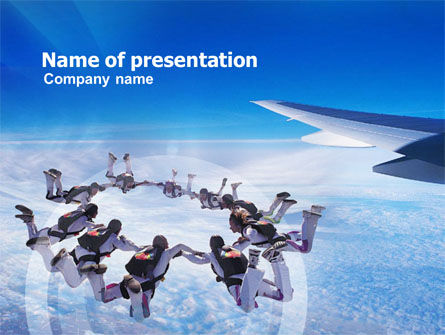 Skydiving PowerPoint Template, 01130, Sports — PoweredTemplate.com