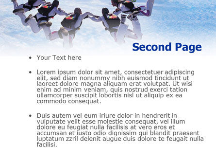 Skydiving PowerPoint Template, Slide 2, 01130, Sports — PoweredTemplate.com