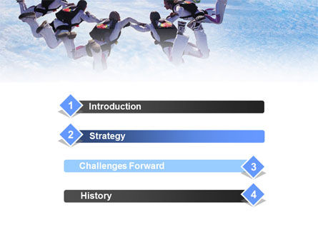 Skydiving PowerPoint Template, Slide 3, 01130, Sports — PoweredTemplate.com