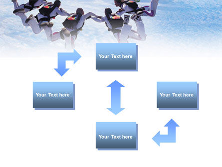 Skydiving PowerPoint Template, Slide 4, 01130, Sports — PoweredTemplate.com