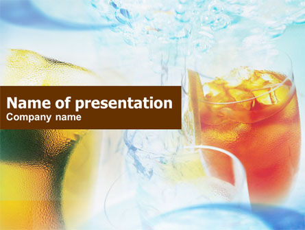 Food & Beverage: Cocktails with Ice PowerPoint Template #01131