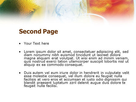 Cocktails with Ice PowerPoint Template, Slide 2, 01131, Food & Beverage — PoweredTemplate.com
