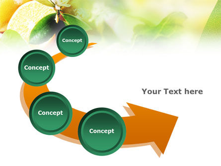 Orange And Salad PowerPoint Template Slide 6