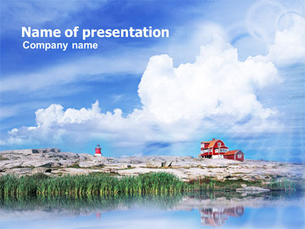 Nature & Environment: Shore House PowerPoint Template #01133