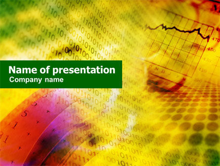 Technology and Science: Computer Data PowerPoint Template #01134