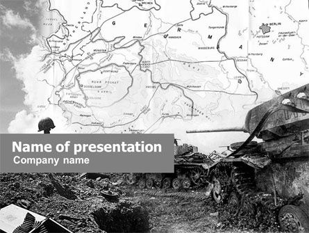 Military: World War II PowerPoint Template #01136