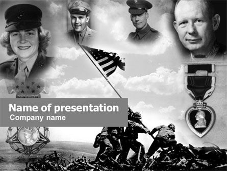 Battle of Iwo Jima PowerPoint Template