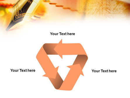 Fountain Pen On The Light Orange PowerPoint Template Slide 10