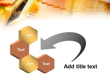 Fountain Pen On The Light Orange PowerPoint Template Slide 11