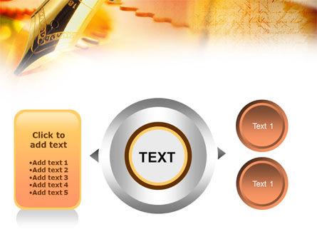 Fountain Pen On The Light Orange PowerPoint Template Slide 12
