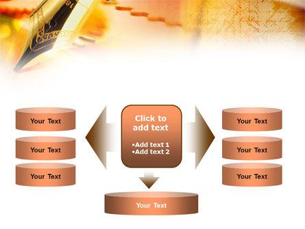 Fountain Pen On The Light Orange PowerPoint Template Slide 13