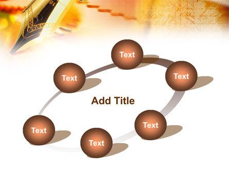 Fountain Pen On The Light Orange PowerPoint Template Slide 14