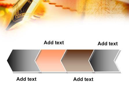 Fountain Pen On The Light Orange PowerPoint Template Slide 16