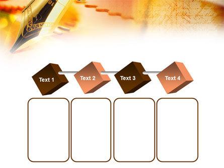 Fountain Pen On The Light Orange PowerPoint Template Slide 18