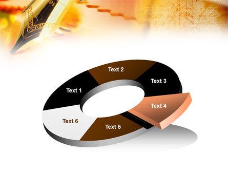 Fountain Pen On The Light Orange PowerPoint Template Slide 19
