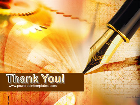 Fountain Pen On The Light Orange PowerPoint Template Slide 20
