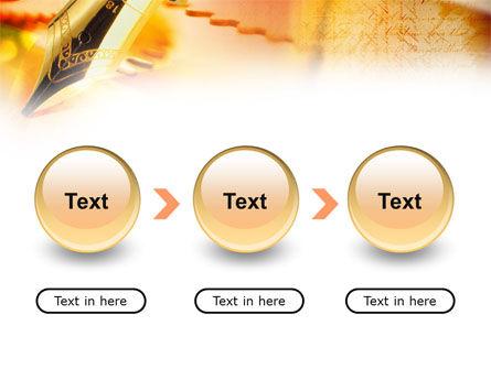 Fountain Pen On The Light Orange PowerPoint Template Slide 5