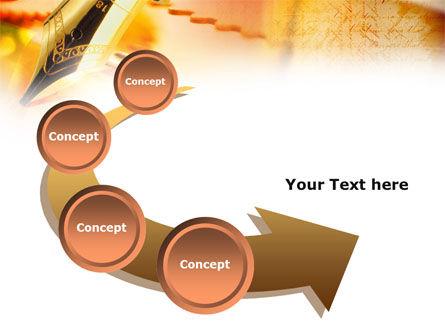 Fountain Pen On The Light Orange PowerPoint Template Slide 6