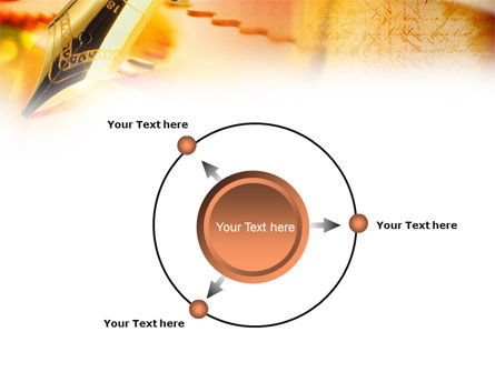 Fountain Pen On The Light Orange PowerPoint Template Slide 7