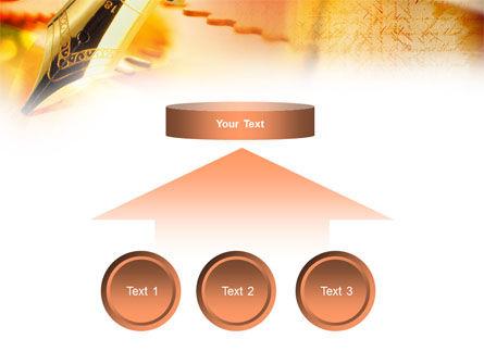 Fountain Pen On The Light Orange PowerPoint Template Slide 8