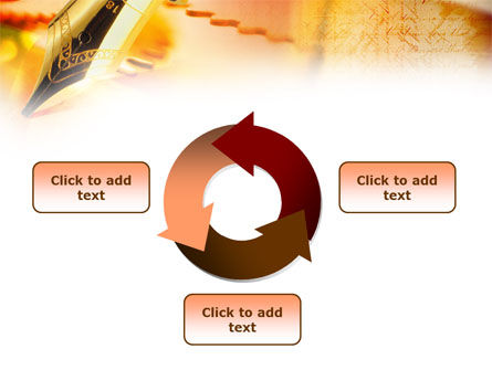 Fountain Pen On The Light Orange PowerPoint Template Slide 9