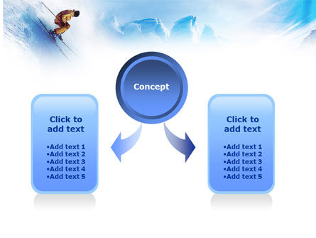 Snow Skiing PowerPoint Template Slide 4