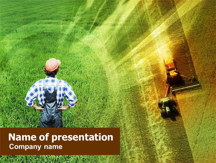 Field Harvesting PowerPoint Template, 01141, Agriculture — PoweredTemplate.com