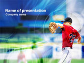 Sports: Pitcher PowerPoint Template #01142