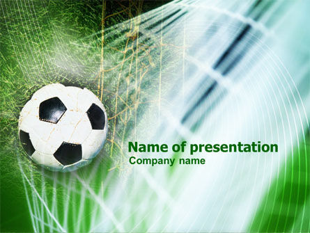 Goal PowerPoint Template, 01144, Sports — PoweredTemplate.com