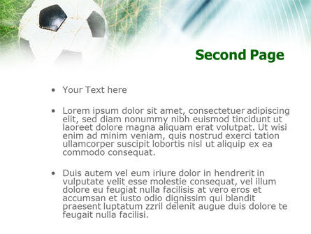Goal PowerPoint Template, Slide 2, 01144, Sports — PoweredTemplate.com