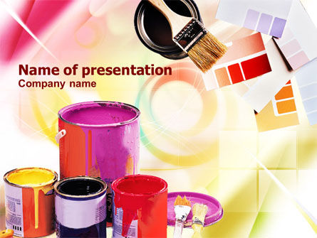 Wall Paint Colors PowerPoint Template