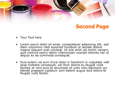 Wall Paint Colors PowerPoint Template Slide 2