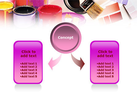 Wall Paint Colors PowerPoint Template Slide 4